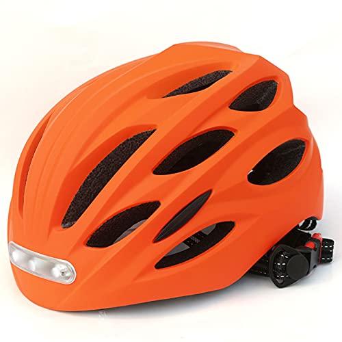 ZHXQ Cascos de Bicicleta con Faros LED Integrados y Encendedores de Luces Traseras,Cascos de Bicicleta Unisex,Cascos de Patinador,Cascos Deportivos para Hombres y Mujeres (54-57CM) / (58-60CM)