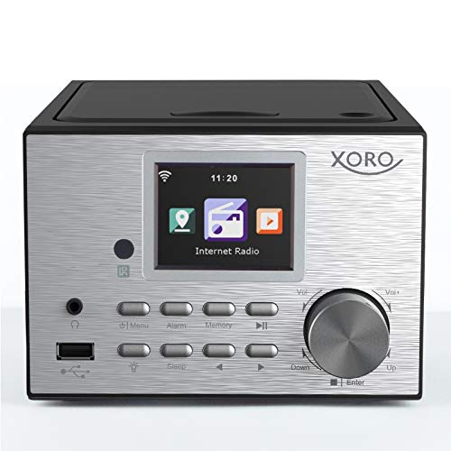 "Xoro HMT 500 - Micro System Internet-/ DAB+/FM-Radio, CD Player, Bluetooth, Mediaplayer, 2.4"" Farbdisplay, RC ,2x10W"