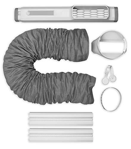 AEG AWK02 Premium Fensterkit (Zubehör ideal für portable Klimaanlagen, schnelle Installation, stabile Verriegelung, ausziehbar, erweiterbar, passend für 15cm Schlauchdurchmesser, grau/weiß)