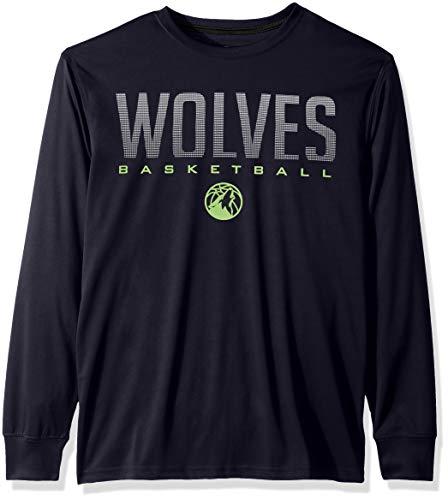 Ultra Game NBA Minnesota Timberwolves Mens Active Long Sleeve Tee Shirt, Team Color, Large