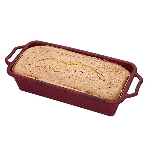 KeepingcooX 6,3 cm Tief Brot Kastenform mit Griffen, Stahl Rahmen Anti-Verformung, Antihaft Backformen, Lebensmittelqualität Silikon, hitzebeständig (446 ‰), Top-Qualität