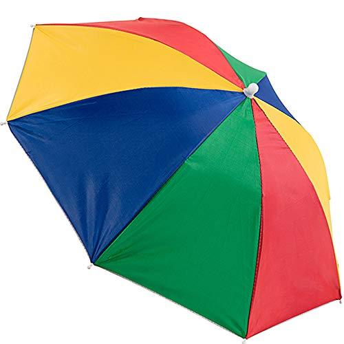 SunnyClover - Sombrero de Paraguas para Mujer, Visera portátil, protección contra la Lluvia y el Sol