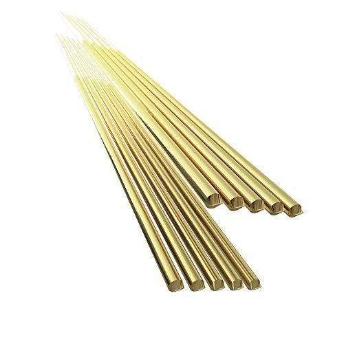 Festnight 10pcs ottone saldatura filo elettrodo 1.6mm * 333mm saldatura rod senza bisogno di saldatura a polvere