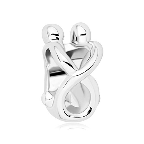 Third Time Charm Forever Love Hug Charm Beads for Charms Bracelets