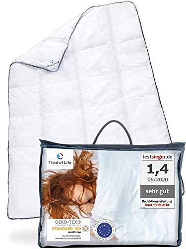 AERO ActiveClima 135x200 Bettdecke mit innovativer Climabalance®-Technologie   Flauschige Ganzjahres-Steppdecke mit Ventilationsstreifen   Perfekt als Sommer-Decke und Winterdecke 135 x 200 cm