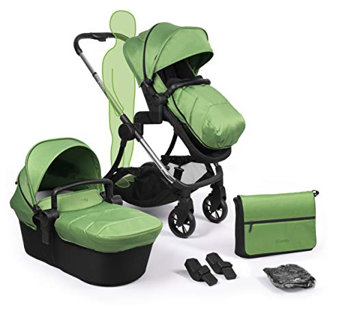 iCandy Lime Plus Chrome Pushchair, Carrycot and Matching Bag Duo Pod Set, Lime