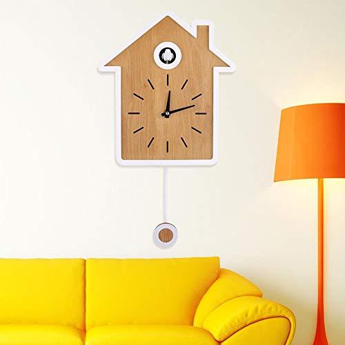 【𝐑𝐞𝐠𝐚𝐥𝐨 𝐝𝐞 𝐍𝐚𝒗𝐢𝐝𝐚𝐝】Oyunngs Reloj de Cuco, diseño de Estilo nórdico Reloj de Cuco Moderno Simple Reloj de Informe Reloj Giratorio Reloj de Pared para el hogar, la Oficina, el Aula, la Es