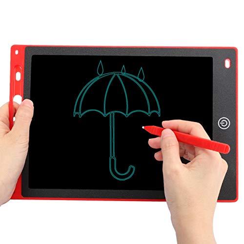 EBTOOLS1 Tablero de Escritura LCD de 10 Pulgadas, Tablero de Escritura a Mano de energía Ligera, Tablero de Dibujo electrónico, Tablero de Escritura Inteligente para niños, con Llave de Bloqueo(Rojo)