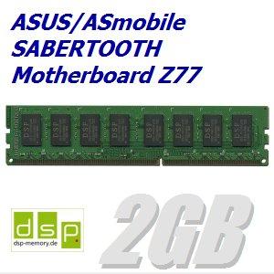 DSP Memory 2GB Speicher/RAM für ASUS/ASmobile Sabertooth Motherboard Z77