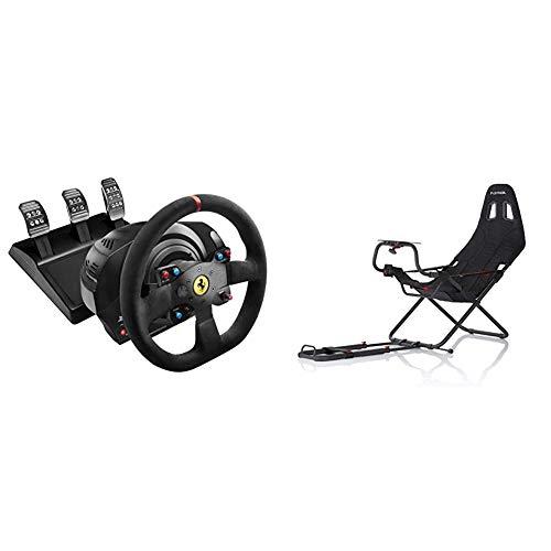 Thrustmaster T300 Integral Rw Volante, Alcantara Edition - PC/PS4/PS3 + Playseat RC.00002 Challenge Sedile da Auto per Gioco, Nero