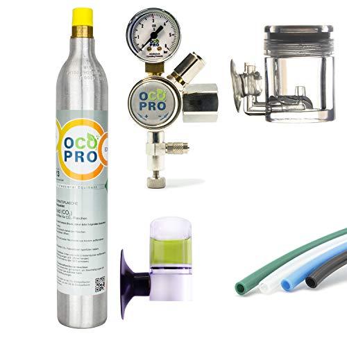 OCOPRO CO2-Anlage für Aquarien mit 425g CO2-Zylinder Soda DLX 350