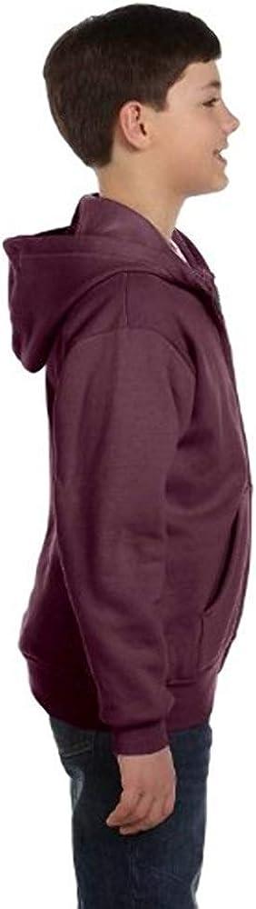 Hanes Youth ComfortBlend EcoSmart Full-Zip Hood 7.8 Oz Sweatshirt, Light Steel, L