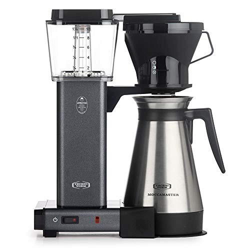 Technivorm Moccamaster 10-Cup 40oz Coffee Brewer Handmade Coffee Maker – KBT741 – Stone Gray