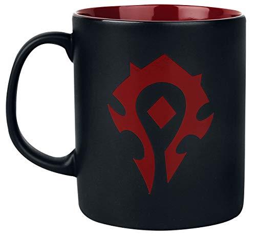 Taza de desayuno World Of Warcraft Horde (negro y rojo)