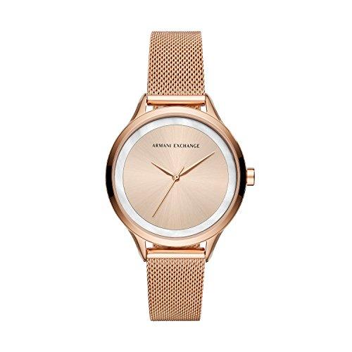 Armani Exchange Reloj Analogico para Mujer de Cuarzo con Correa en Acero Inoxidable AX5602