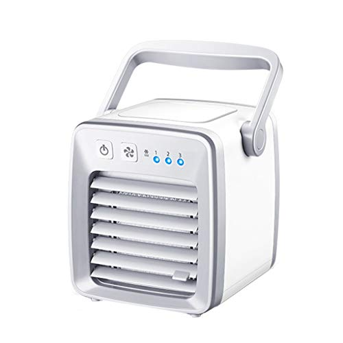 GXT Mini Enfriador de Aire Mini Enfriador de Escritorio portátil Mini Enfriador de Aire y Aire Acondicionado Enfriador de Oficina Ventilador Multifuncional con Hielo Frio (Color : White)