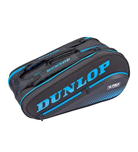 Dunlop Sport Unisex-Erwachsene PSA 12-Racket Bag Squashschläger Tasche, schwarz/blau