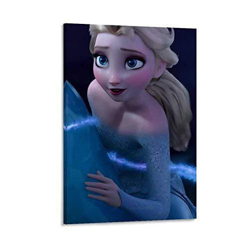 NUOMANAN Impresión de acuarela de Frozen Fantasy Adventure of the Snow Princess 60 x 90 cm, para colgar en collage para decoración del hogar, decoración de pared sin marco/enmarcar