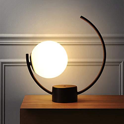Scra AC Dormitorio Moderna Minimalista Lámpara de Noche/Home Hotel Study Decoración de la Personalidad Lámpara de Mesa Creativa (Color : White, Size : B)