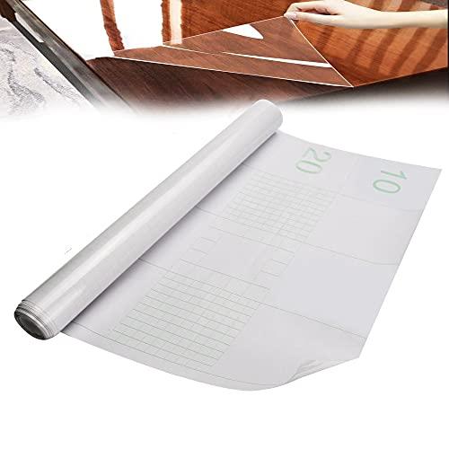 WANTOUTH Papel Adhesivo Transparente para Muebles 40cm×300cm Lámina Autoadhesiva Transparente Papel Protector para Muebles Impermeable Lámina a Prueba de Aceite para Cocina Libros Puertas Ventanas