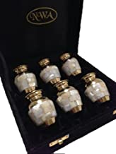 Cremation Urn, Mother of Pearl Keepsake Funeral Urns-set of 6 with Case