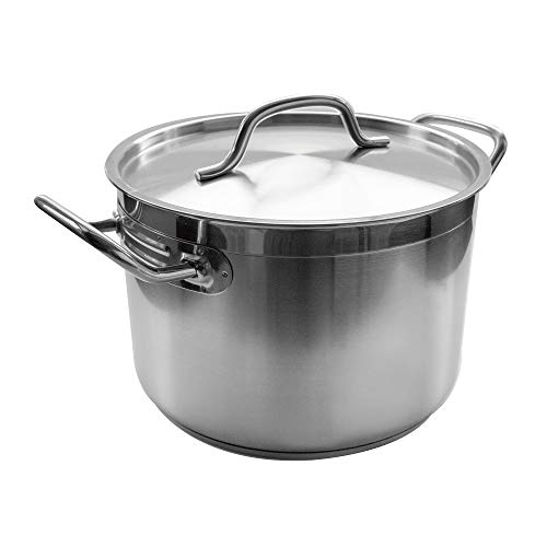 Update International 16 Qt Stainless Steel Stock Pot