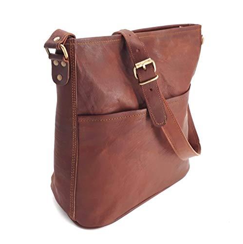 Rustler Melbourne 12 | L25 x W15 x H29 | Hochqualitatives Leder | Jede Tasche EIN Unikat | Handgemachte Crossbody-Tasche aus feinstem Napa Leder | Ledertasche im Vintage Design…