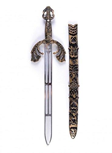 shoperama Espada de combate decorada con vaina dorada, caballero romano, gladiador, arma medieval