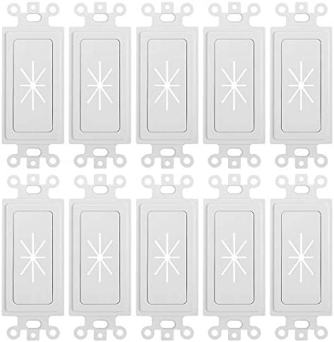 Cmple Decora Wall Plate 1 Gang Insert with Flexible Opening Single Gang Decor Wall Plate White product image