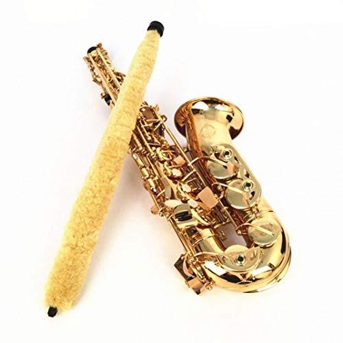 YSHTAN Saxophon-Reinigungsbürste für Orchesterinstrument, Reparatur-Werkzeug für Altsaxophon, weich, langlebig, Reinigungsbürste, Zubehör – Gelb