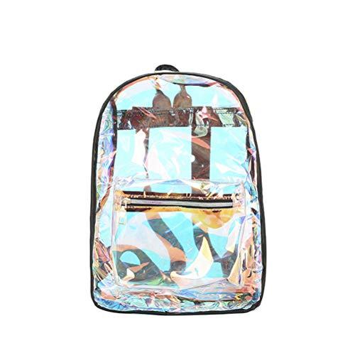 LUOEM Sac à dos en PVC transparent pour sac d'école à laser