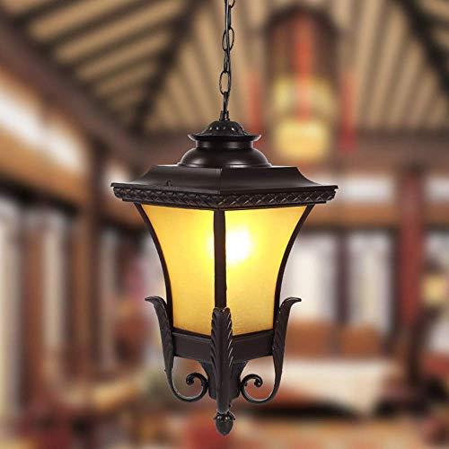 SKSNB Lámparas Colgantes Vintage Lámparas de Techo Impermeables al Aire Libre Iluminación de araña Colgante de Vidrio de Aluminio Industrial para Porche, Pasillo, Villa, Patio, Interior,