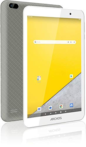 Archos T80 WiFi 16GB - WiFi Touch Tablet (8 Inch IPS HD Screen 1280 x 800 Pixels - Quad Core Processor @1.2GHz - Dual 2MP Cameras - 4000mAh Battery - Android 10) Grey