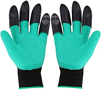 Waterproof And Breathable Claws For Gardening Digging And Planting. Totally Water and Puncture Resistant, Anti-Static, Dustproof Garden Gloves for Gardeners and Campers.