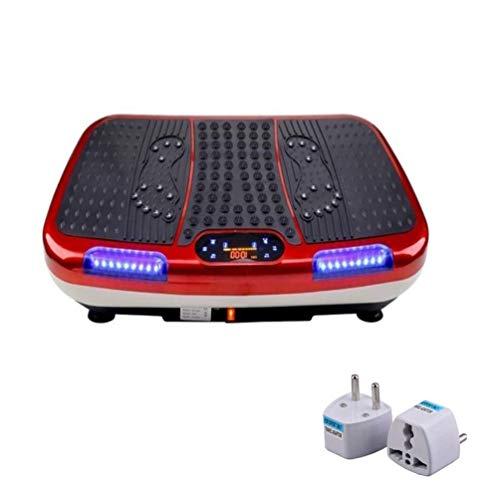 LIUXR Pedana Vibrante, con Display LCD + Altoparlanti Bluetooth Multifunzione Pedana Vibrante Allenamento di Tutto Il Corpo capacità di Peso 150kg per Esercizi a casa e Fitness,Red_78*43 * 14cm