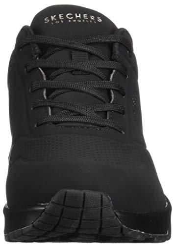 Skechers Uno- Stand On Air, Zapatillas Mujer, Negro (BBK Black Durabuck), 38 EU