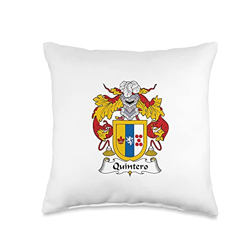 Family Crest and Coat of Arms clothes and gifts Quintero Coat of Arms - Family Crest Throw Pillow, 16x16, Multicolor