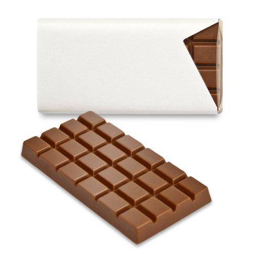 Schokoladena Schokotäfelchen 50 St. Milchschokolade blanko für individuelle Gestaltung als Gastgeschenke und Tischkarten, inkl. Laserdruck-Etiketten