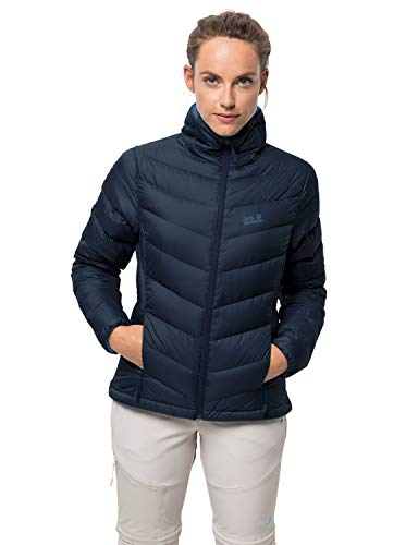 Jack Wolfskin Damen Helium HIGH Women Daunenjacke, Midnight Blue, XL
