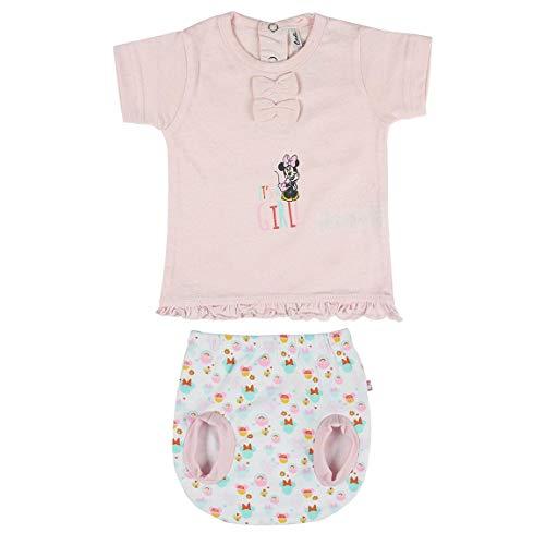 Cerdá Conjunto Ropa Disney Bebe de Minnie Mouse Juego de Pijama, Rosa, 1 Mes para Bebés