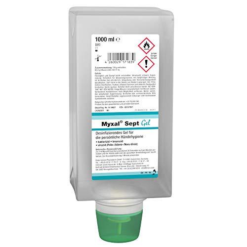 Format 4260029171839 Myxal Sept Gel Handdesinfektionsmittel, 1000ml