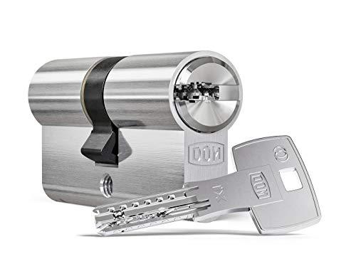 DOM ix Twido® Doppelzylinder mit Not- und Gefahrenfunktion 55/40 inkl. 5 Schlüssel - Sicherheits-Türzylinder - Sicherungskarte - Wendeschlüssel mit hohem Kopierschutz (Gleichschließung)