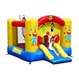 Happy Hop - Bj9201 - Toboggan - Clown Slide And Hoop Bouncer