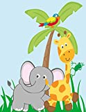 Safari Animals Jungle Animals Zoo Party Notebook: Zoo Animals Notebook Elephant, Tiger, Zebra,Monkey, Parrot, Giraffe, Tiger,Snake, Spider & Frog 8.5 x 11 Softcover 100 Wide Rule Pages