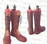 Lexx_cos高品質 COSFAMILY*D148 東方project 比那名居天子 風 専用靴 、通用靴 コスプレ道具/小物 (男, 23.5)