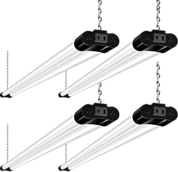 4-Pack Hykolity 4FT 36W Linkable LED Utility Light Fixture