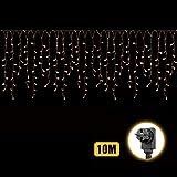 10m * 0.5-1m Rideau Lumineux 31V adaptateur Etanche LED Guirlande Lumineux Alimenté...