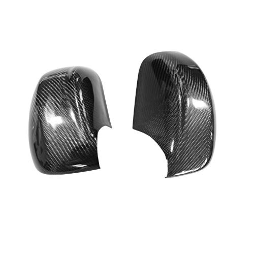 YESBAY Automotive Exterior Mirrors, 2Pcs Rear-View Mirror Protectors Universal Accurate Dimension Carbon Fiber Dedicated Side Mirror Covers Compatible with Nissan GTR R35 2008-2020 Black