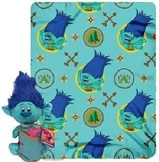 DreamWorks Trolls Branch Fleece Throw Blanket and Cuddle Plush Toy - Kids