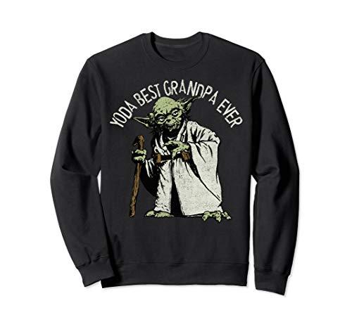 Star Wars Yoda Best Grandpa Ever Portrait Sweatshirt
